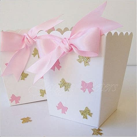 Popcorn Holders For Baby Shower by Baptism Favor Box In Pink And White From Peters