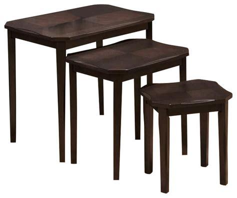 monarch specialties 3 piece 21x16 nesting tables set in