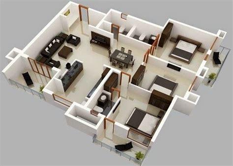 gambar contoh desain rumah 3 kamar konsep minimalis