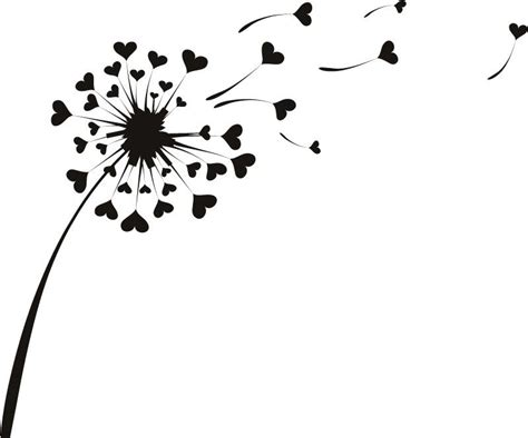 love heart dandelion wall sticker pattern wall stickers