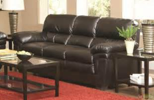 black leather living room furniture sets fenmore black faux leather plush contemporary living room