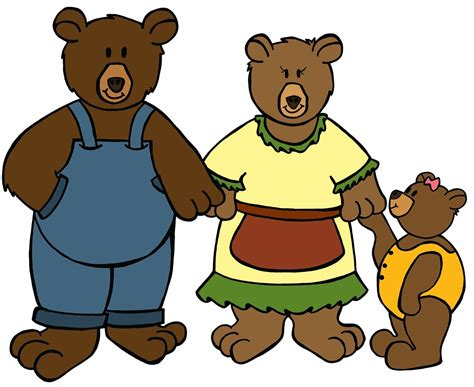 Goldilocks Three Bears Clipart goldilocks and the three bears clipart cliparts co