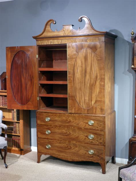 antique wardrobe georgian linen press antique chest on