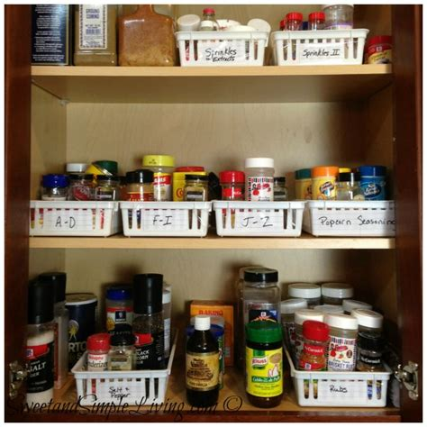 Cheap Kitchen Organization Ideas | kitchen organization cheap and easy spice cupboard