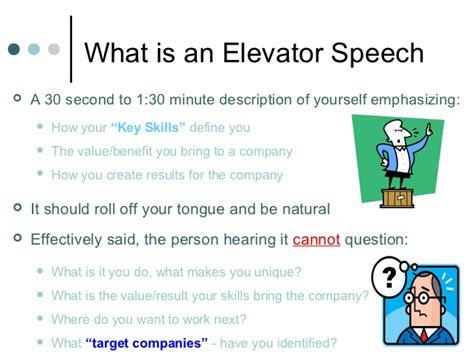 Creating An Elevator Speech That Wow?s