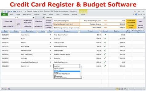 Credit Card Budget Excel Template by 10 Best Budget Spreadsheet Images On Checkbook