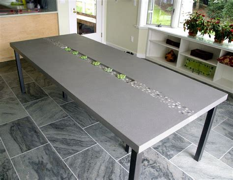 kitchen table top concrete rock dining table by trueform concrete