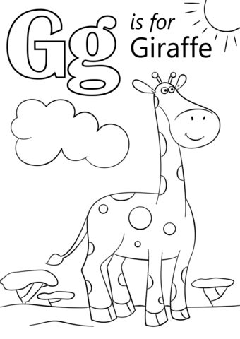 coloring pages alphabet letter g coloring pages letter g letter g is for giraffe coloring page free printable