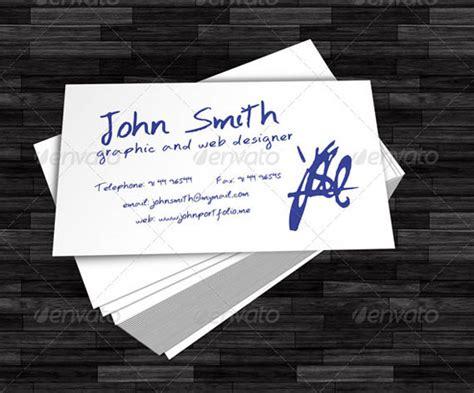 handwritten business card template 50 best psd photoshop business card templates business