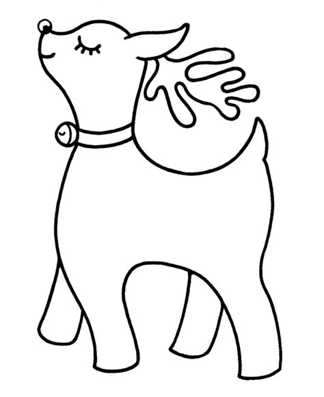 bluebonkers santa s reindeer coloring pages 9 cute