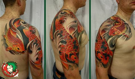 koi dragon sleeve tattoo designs koi sleevehelenasaurus