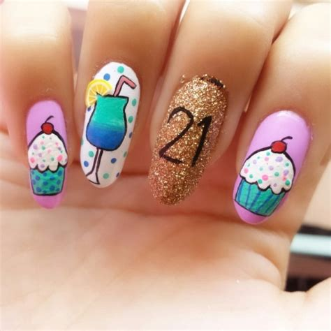 17 best images about nails birthday on birthday nail birthdays and coral cupcakes 50 best birthday nail designs