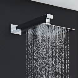 8 quot square shower with rectangular wall arm