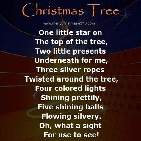 christmas tree poems for children the world s catalog of ideas