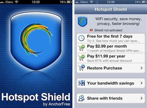hotspot shield iphone full version free iphone 5s 5c 5 4s 4 vpn free iphone vpn apps