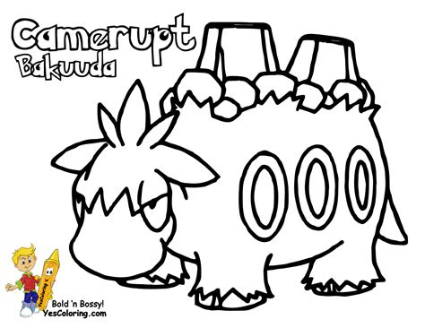 pokemon coloring pages mega camerupt smooth pokemon coloring sheets numel milotic free