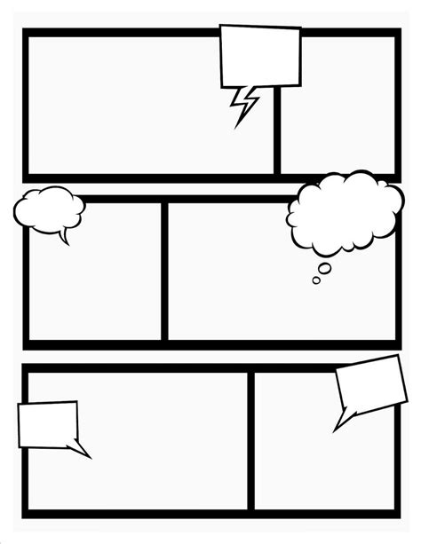 Make Your Own Comic Book Template by Comic Book Template Stretch Your Creativity And Create
