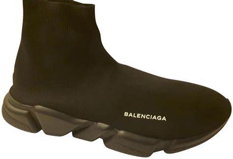 balenciaga black speed high top sock stretch knit sneakers size us 13 regular m b tradesy