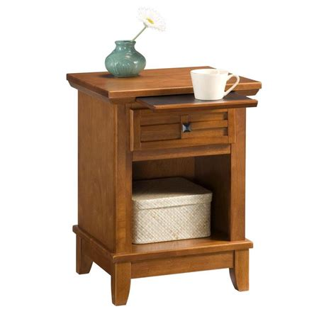 oak nightstand with drawers home styles arts and crafts 1 drawer cottage oak