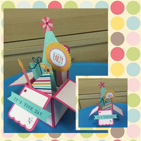 handmade card box template handmade 3d box or pop up quot birthday quot card using a
