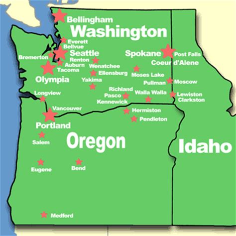 map of oregon idaho border washington oregon map with cities memes
