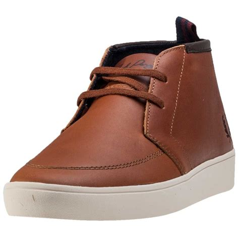 fred perry shields mid mens boots in