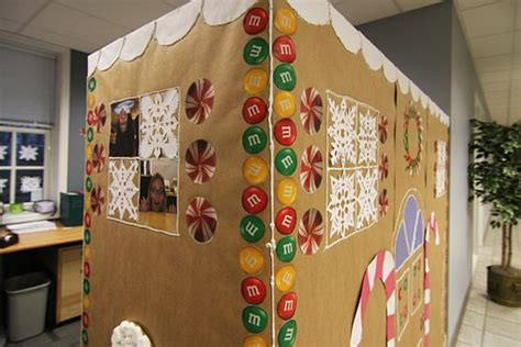 office decorating contest cubicles gingerbread and gingerbread houses on