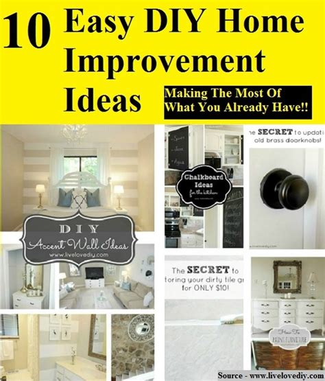 Diy Projects For Home Improvements by Easy Home Improvements Ideas Images