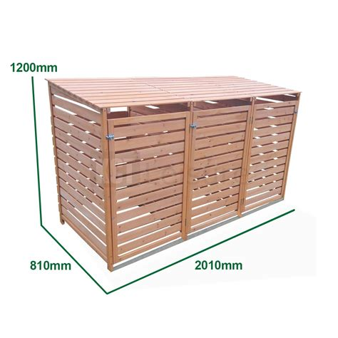 Bin Sheds by Outdoor Wheelie Bin Storage And Shed Wooden