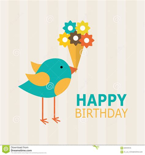 happy birthday card design stock vector image 58187675