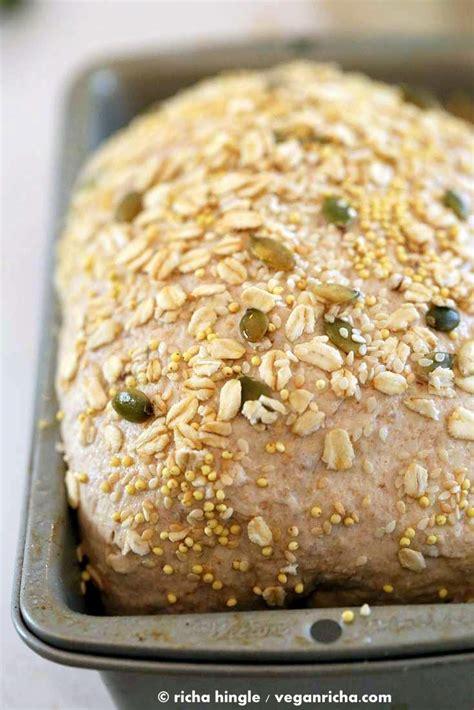 whole wheat 7 grain bread recipe whole grain seed bread recipe vegan richa