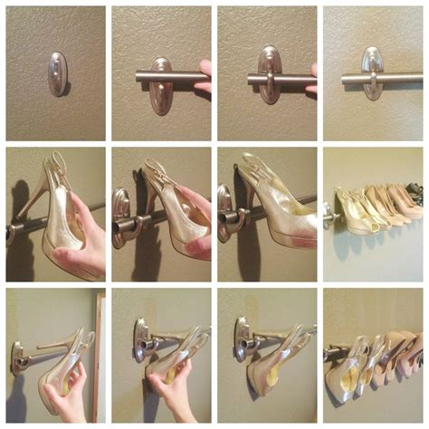 diy shoe rack for closet mount a diy shoe rack to organize your high heels using a