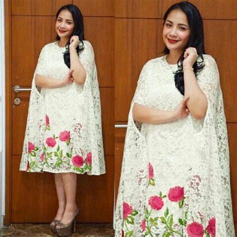 Kaftan Nagita baju dress pendek kaftan nagita bahan brukat model terbaru