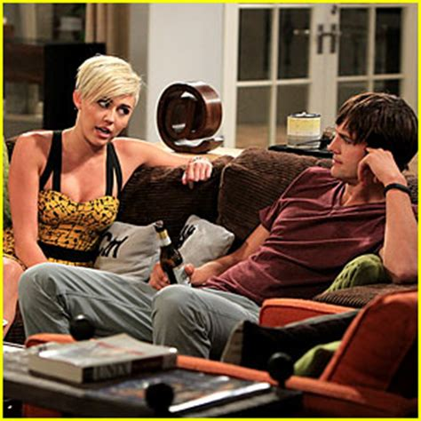two and a half men couch miley cyrus new two and a half men stills angus t