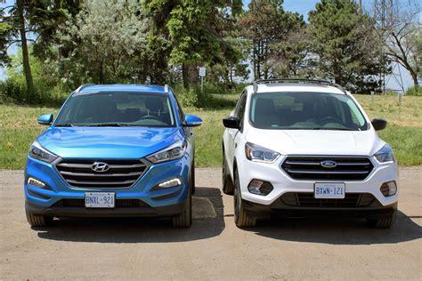 compare ford escape to hyundai santa fe 2017 ford escape vs 2016 hyundai tucson autos ca