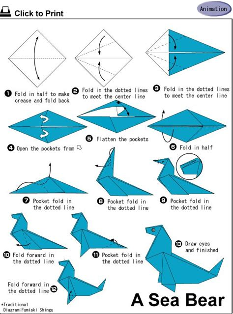 Origami Sea Pdf - 10 images about origami on origami paper
