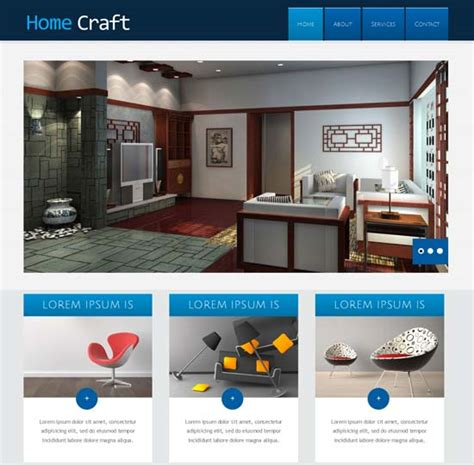 50 interior design furniture website templates 2017