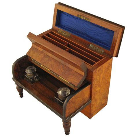 desk in a box desk set with inkwells and stationery box for sale
