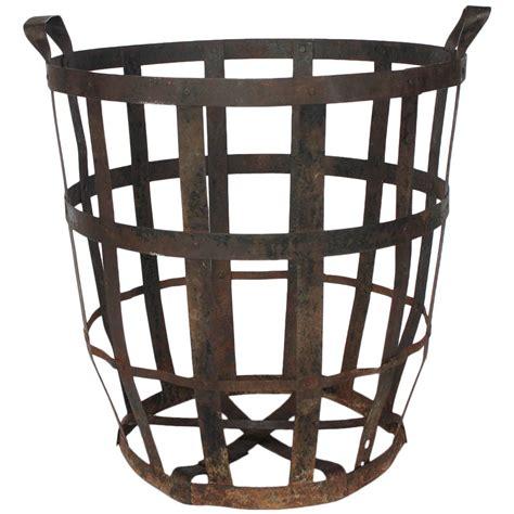 Baju Basket 1 Stel large industrial metal basket for sale at 1stdibs