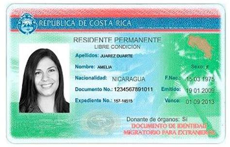 costa rica identidad migraci 243 n recuerda a residentes renovar documento de