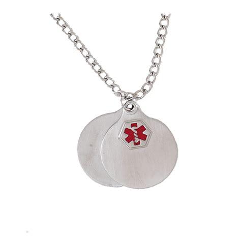 hadley roma alert necklace pendant silver