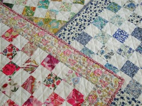 Patchwork Quilt Wadding - liberty tana lawn doll patchwork quilt kit with backing