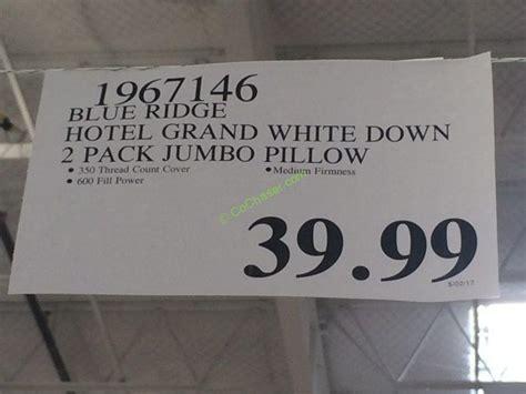 Hotel Grand White Pillow by Hotel Grand White Pillow Jumbo Or King Costcochaser