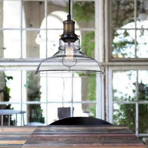 Vintage Creative Rustic Northern Crystal Bowl Pendant Rustic Pendant Lighting For Kitchen