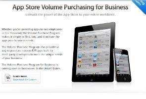 apple adds volume app purchases for businesses