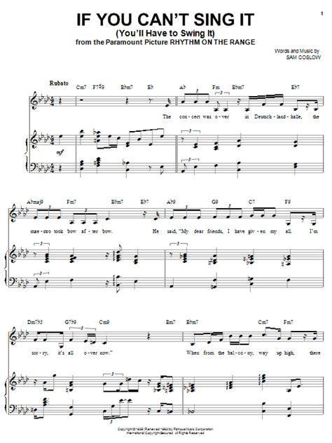 i ll swing for you if you can t sing it you ll have to swing it sheet