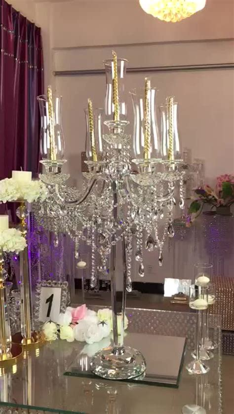 2017 new decoration table top chandelier centerpieces for