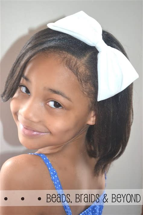 flat ironed hairstyles for kids beads braids and beyond straightening thick 4b 4c