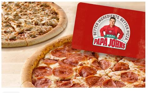 Papa Johns E Gift Card - groupon two free papa john s pizzas wyb 25 e gift card shopportunist
