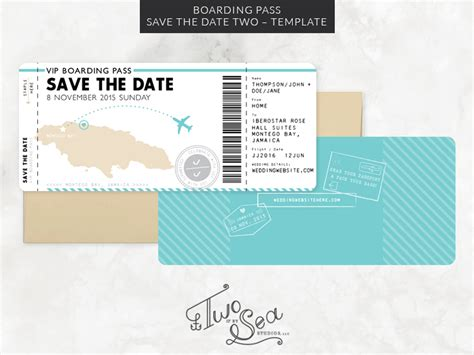 boarding pass card template boarding pass save the date template invitation